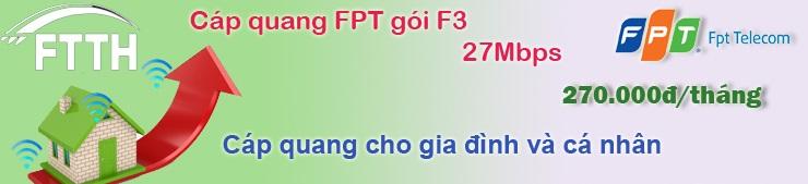 cáp quang fpt gói f3